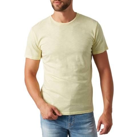7 For All Mankind Yellow Slub T-Shirt
