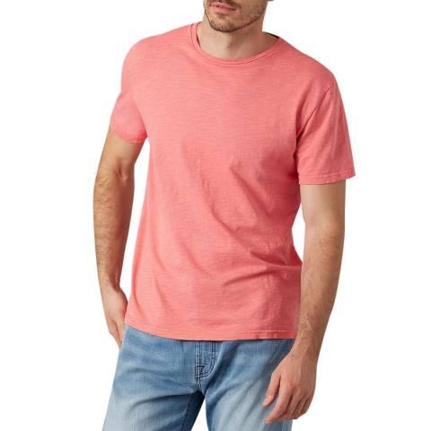 7 For All Mankind Pink Slub T-Shirt