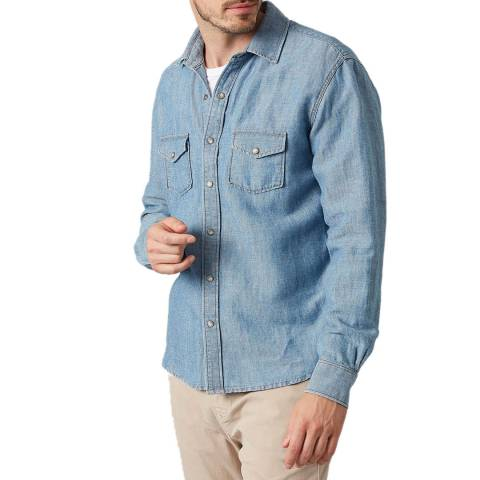 7 For All Mankind Blue Western Shirt