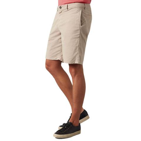 7 For All Mankind Beige Weightless Clean Shorts