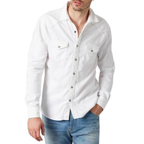7 For All Mankind White Western Shirt