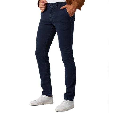 7 For All Mankind Navy Luxe Slimmy Chinos