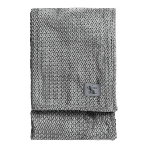 Gallery Grey Chevron Flannel Fleece Throw 140x180cm