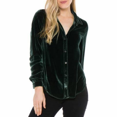 Bella Dahl Green Button Down Shirt