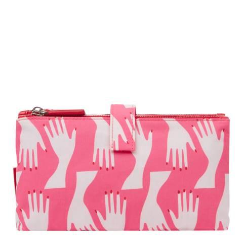 Lulu Guinness Pink Hug Print Double Makeup Bag
