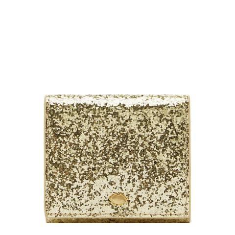 Lulu Guinness Gold Glitter Hettie Cardholder
