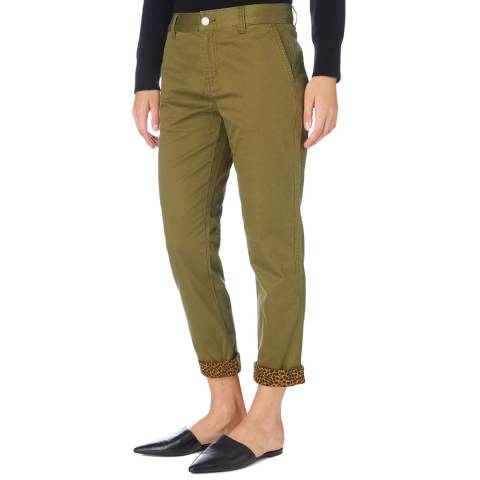 Current Elliott Olive Skinny Confident Trousers