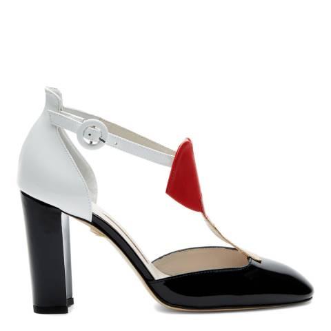 Lulu Guinness Black, White & Red Lips Lipstick Julia Court Shoes