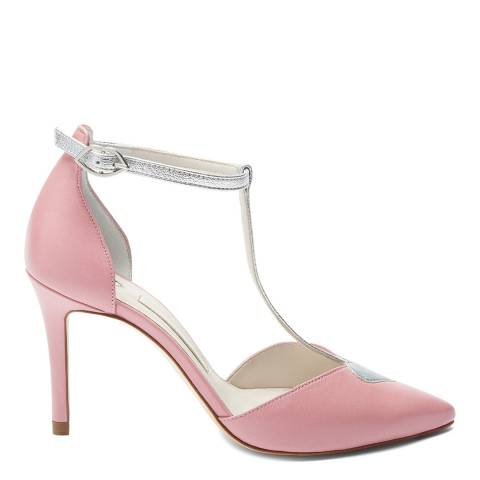 Lulu Guinness Pink & Silver Heart And Lips Belle Court Shoes