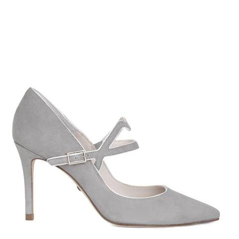Lulu Guinness Grey Cut-out Lip Billie Court Shoes