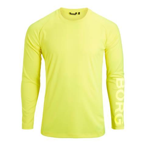 BJORN BORG Safety Yellow Ante Long Sleeve Tee