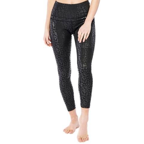 Electric Yoga Black Foil Cheetah Legging