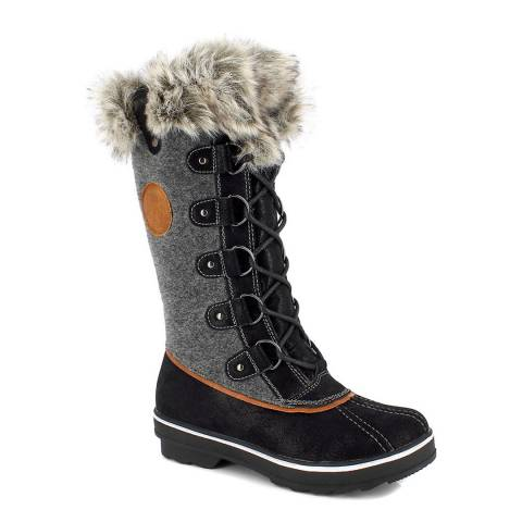Kimberfeel Anthracite Grey Capucine Tall Boots