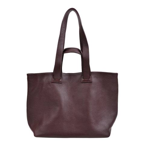 Anna Luchini Burgundy Leather Top Handle Bag