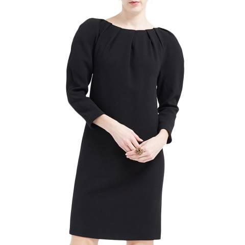 WTR London Black Vera Wool Blend Dress