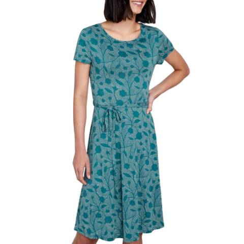 Seasalt Running Stitch Lake Overprinting Dress