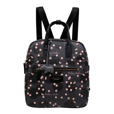 Radley Dark Grey Clouds Hill Medium Zip Top Backpack