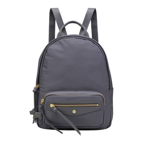 Radley Dark Grey Merchant Hall Medium Zip Top Backpack