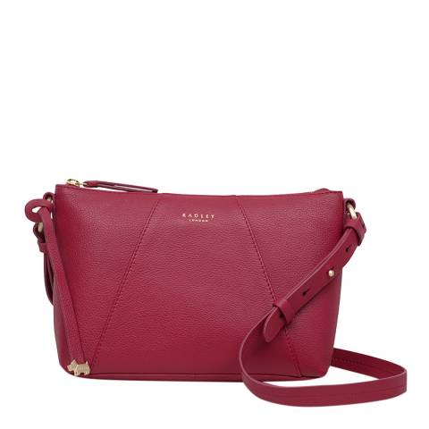 Radley Mid Red Wood Street Medium Zip Top Crossbody