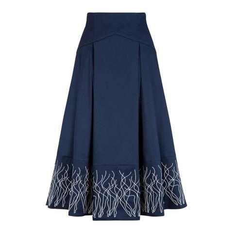 Lulu Guinness Blue Dance For Joy Hannah Skirt