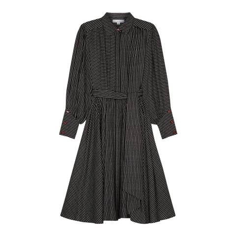 Lulu Guinness Black Pin Stripe Darcy Dress