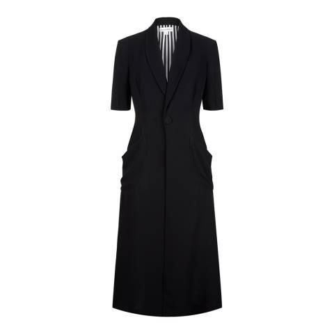 Lulu Guinness Black Crepe Dee Coat