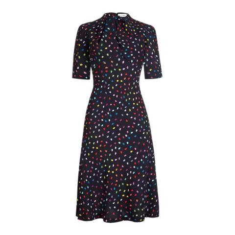 Lulu Guinness Multi Confetti Lip Lilth Dress