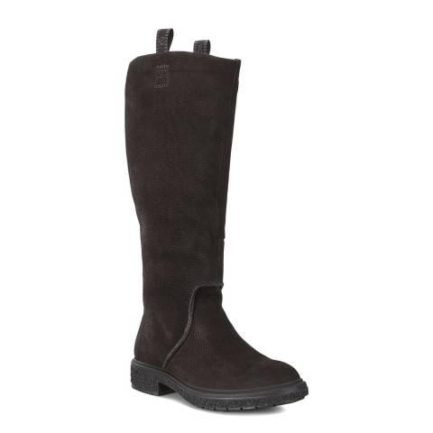ECCO Black Crepetray Hybrid Tall Boot