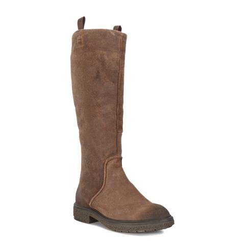 ECCO Brown Crepetray Hybrid Tall Boot