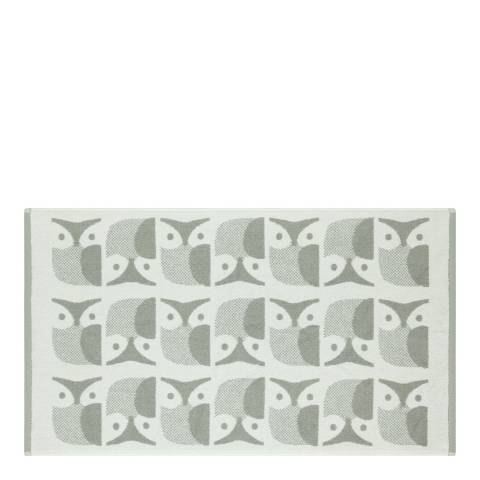 Orla Kiely Owl Pair of Bath Mats, Granite