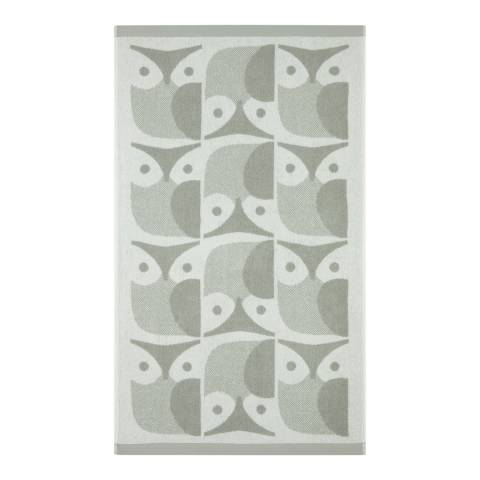 Orla Kiely Owl Pair of Bath Towels, Granite