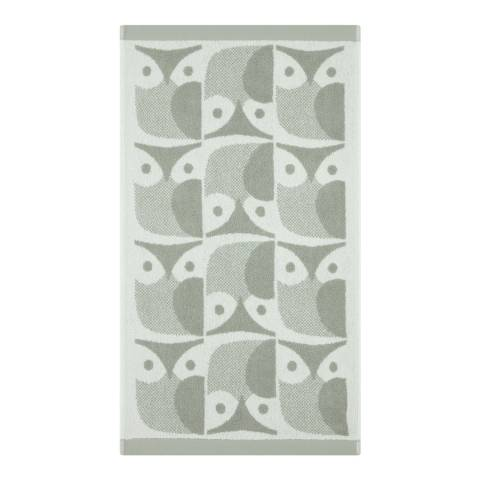 Orla Kiely Owl Pair of Hand Towels, Granite