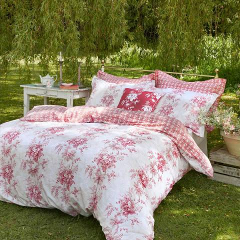 Cabbages & Roses Charlotte Super King Duvet Cover, Plaster