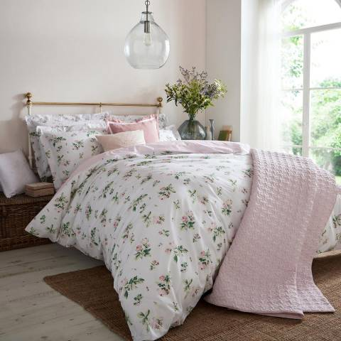 Cabbages & Roses Clementine Super King Duvet Cover, Pink