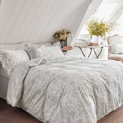 Cabbages & Roses French Toile Double Duvet Cover, Mint