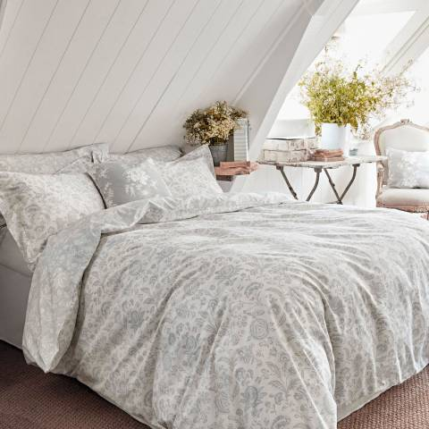 Cabbages & Roses French Toile Super King Duvet Cover, Mint