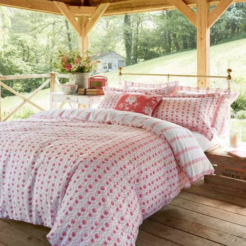 Cabbages & Roses Julia Super King Duvet Cover, Russet