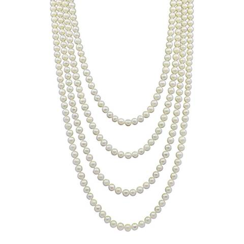 Liv Oliver White Endless Pearl Necklace
