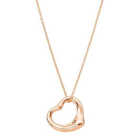 Liv Oliver Rose Gold Open Heart Love Necklace