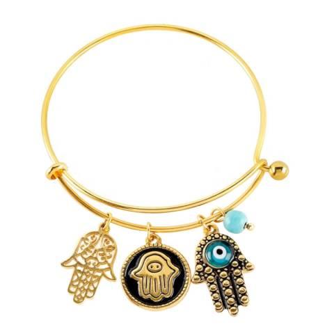 Liv Oliver Gold Charm Bracelet