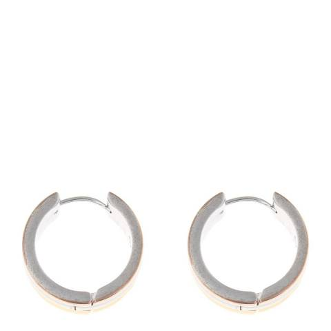 Liv Oliver Gold Plated Tri Color Huggie Earrings