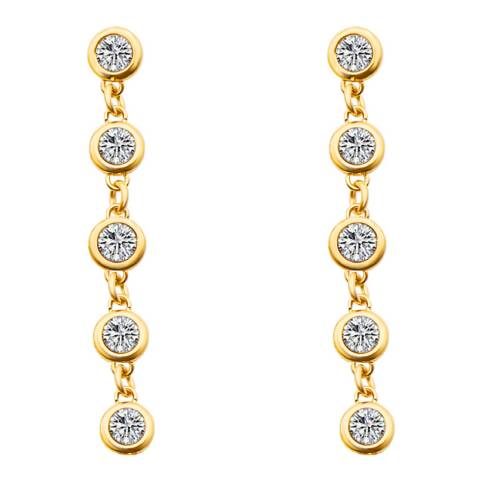 Liv Oliver Gold Multi Cubic Zirconia Drop Earrings