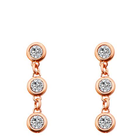 Liv Oliver Rose Gold Multi Cubic Zirconia Drop Earrings