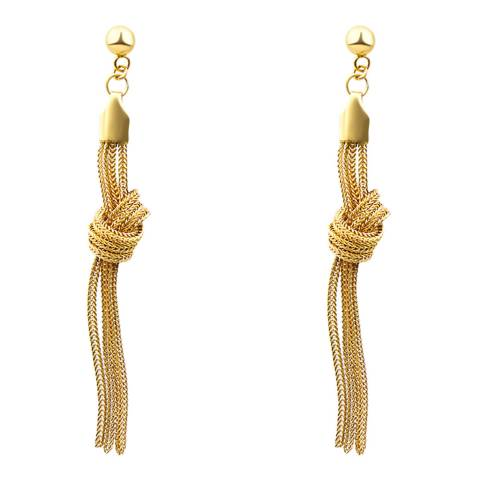 Liv Oliver Gold Knot Chain Earrings