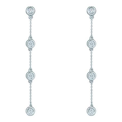 Liv Oliver Silver Multi Cubic Zirconia Drop Earrings