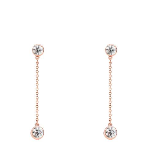 Liv Oliver Rose Gold Plated Cubic Zirconia Stone Drop Earrings