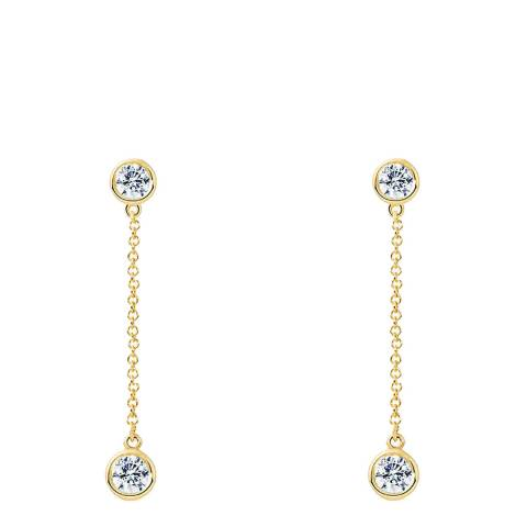 Liv Oliver Gold Cubic Zirconia Stone Drop Earrings
