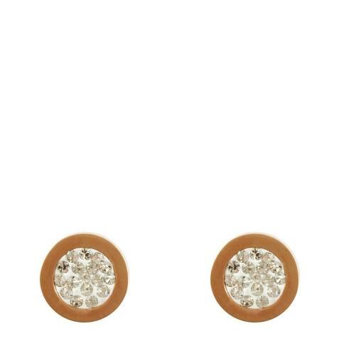 Liv Oliver Rose Gold Multi Crystal Disc Earrings