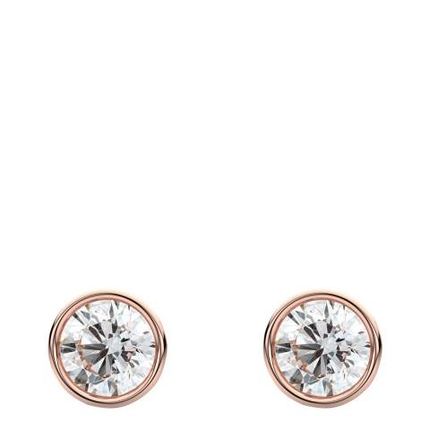 Liv Oliver Rose Gold Bezel & Cubic Zirconia Stud Earrings