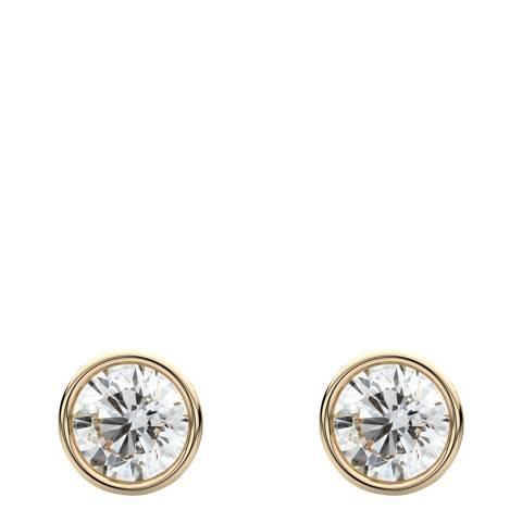 Liv Oliver Gold Bezel Cubic Zirconia Stud Earrings
